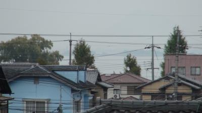 窓から見た琵琶湖(11月14日8時頃)