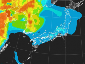 tenki.jp PM2.5分布予測(11月17日9時)