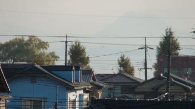 窓から見た琵琶湖(11月22日8時頃)