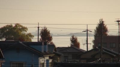 窓から見た琵琶湖(12月4日8時頃)