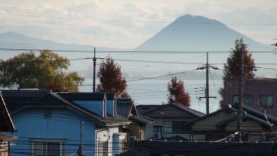 窓から見た琵琶湖(12月5日8時頃)