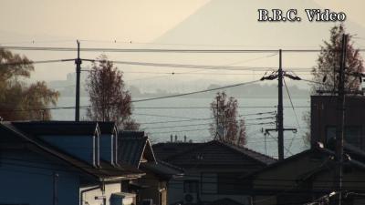 窓から見た琵琶湖(12月19日8時頃)