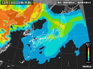 tenki.jp PM2.5分布予測(12月19日9時)