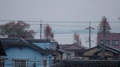 窓から見た琵琶湖(12月20日7時頃)