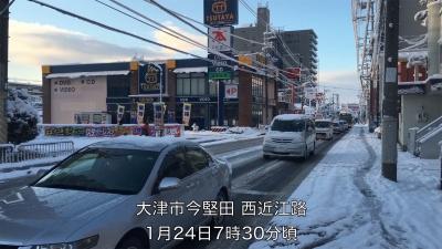 またも大雪の西近江路(YouTubeムービー)