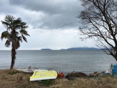 冬空の真野浜(2月2日13時頃)