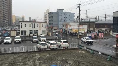 今朝のJR堅田駅付近(2月9日9時頃)
