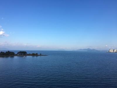 琵琶湖大橋西詰めから眺めた北湖(11月11日14時頃)