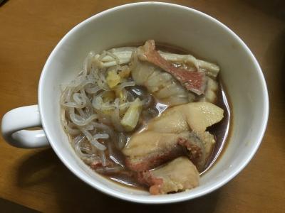 アコウダイの鍋。本当は切り身よりアラの方が美味しくて好きです