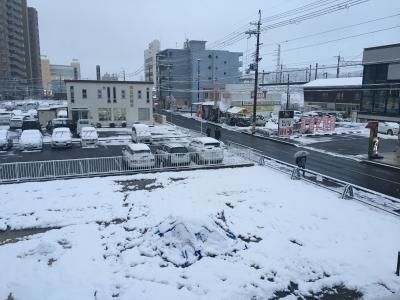 大津市今堅田 JR堅田駅付近(1月23日17時頃)