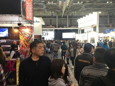 フィッシングショーOSAKA2017 3号館(2月4日15時30分頃)