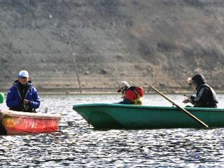 佐賀県北山ダムのワカサギ釣り