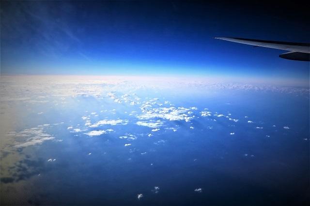 高高度飛行中の風景(1)