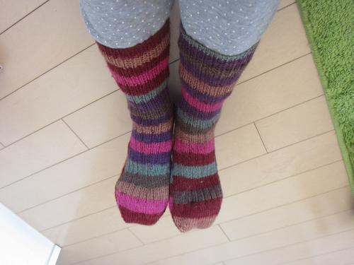 毛糸の靴下
