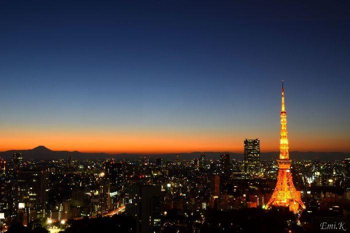 118-New-Emi-東京タワー富士山