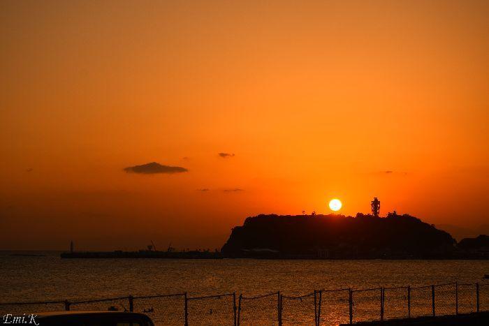 019-Emi-江の島夕日