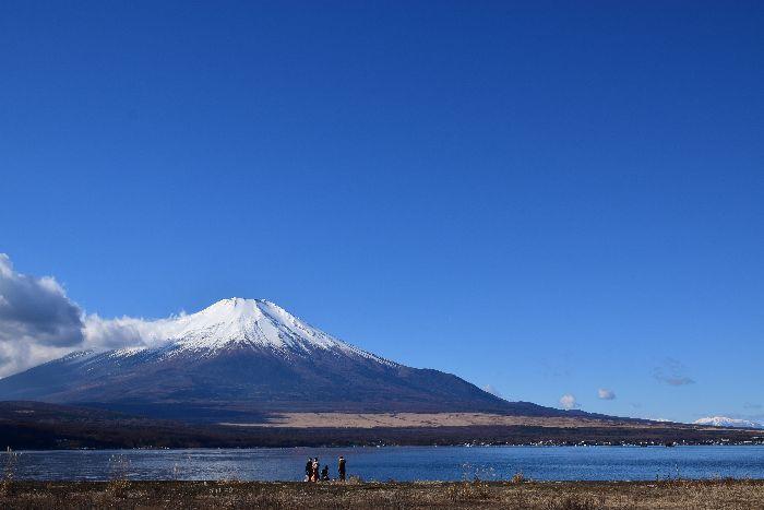 134-山中湖畔からの富士山