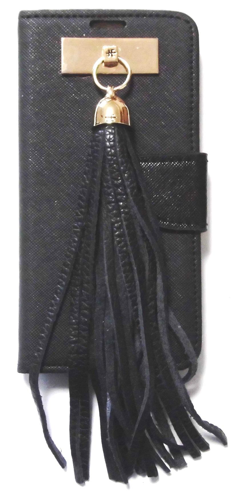 Butterfly smart wallet gold leather tassel galaxy s6 case (2)