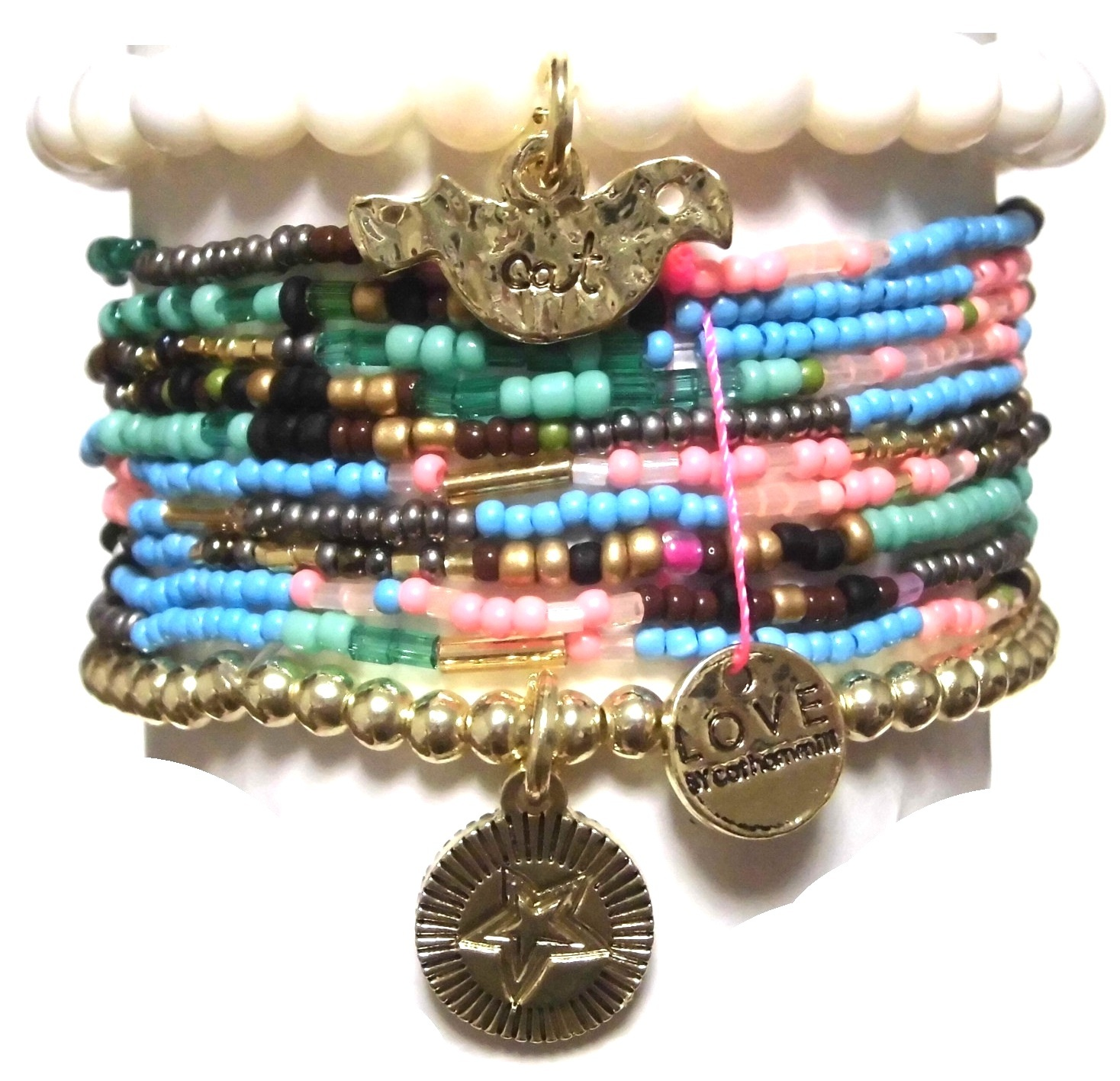 c001 multi colored coco bracelet set natural (4)