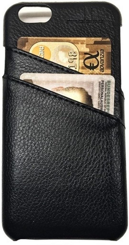 iPhone 6 Ledercase schwarz mit Kartenfachern Die Verhullte (4)