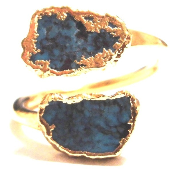 Turquoise Wrap Ring Gold 35 (3)11111