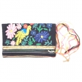 Flora Emb Purse bag navy (1)