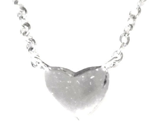 Tailored heart necklace white (3)