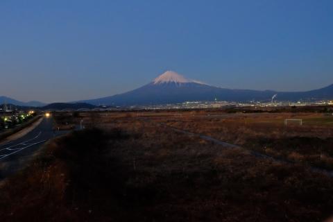 55富士川から富士山