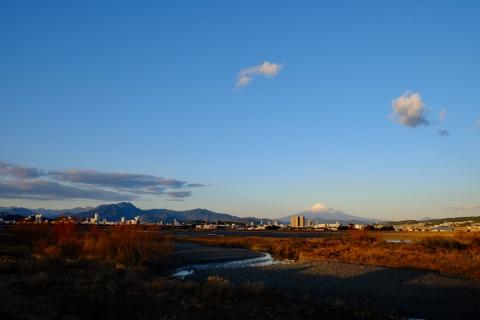 55安倍川の富士山