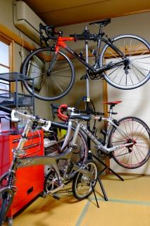 和室の自転車