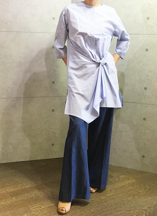 ヴィンスのワイドパンツとコユキのロングシャツチュニック