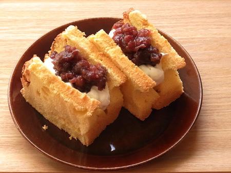 豆乳シフォンケーキのシフォンサンド