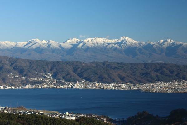八ヶ岳と諏訪湖