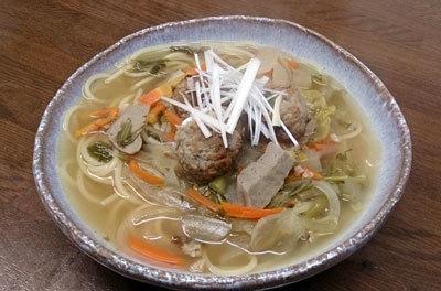 鰯のすり身と野菜の和風スープスパゲッティ