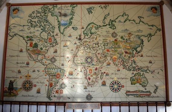 ?????????? 達した世界地図