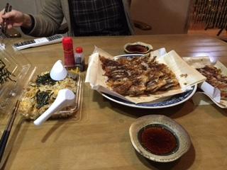 鉄なべの餃子と焼き飯