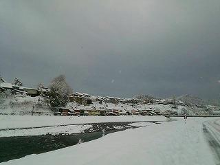八尾雪景色・1