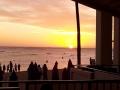 ビーチクラブラウンジからの夕日-1612