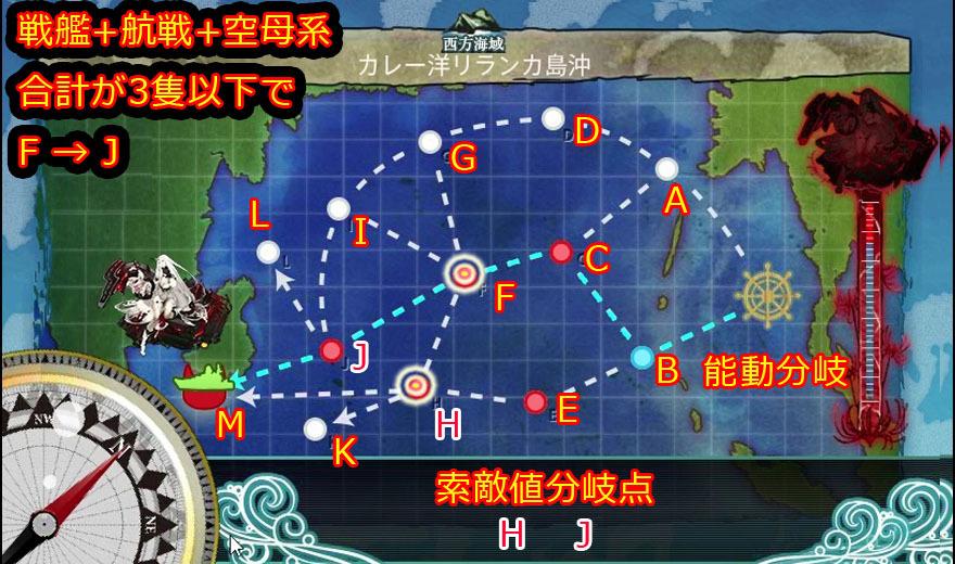 艦これ,攻略,4-5,MAP,自作,中央突破