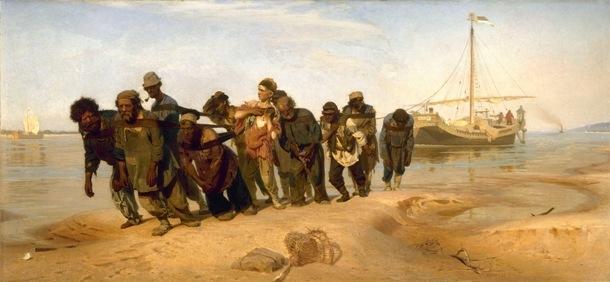 ヴォルガの船曳