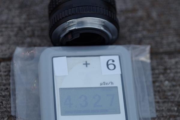 レンズ後部キャップなし放射線量