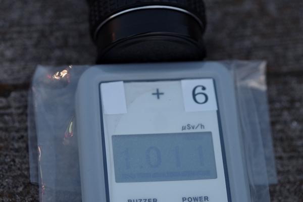 レンズ頭部キャップ付き放射線量