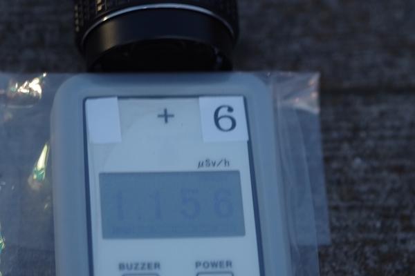 レンズ頭部キャップなし放射線量