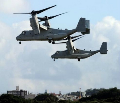 C0Evq-xUkAALp01オスプレイ飛行再開 墜落6日後