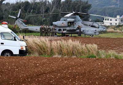 C2p9UR3WEAMBWhV米軍が機体整備始める