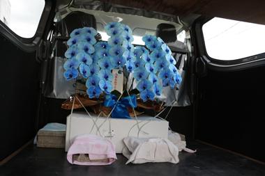 青い胡蝶蘭 ブルーエレガンス 東京 銀座 花屋 花夢