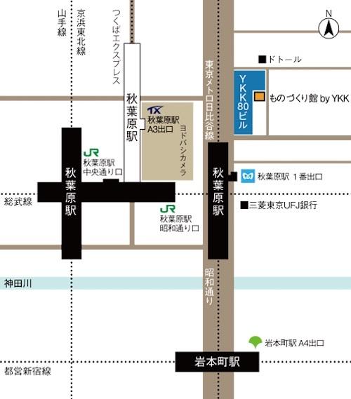 YKKものづくり館map500