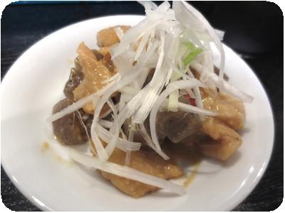 鶏皮の味噌煮