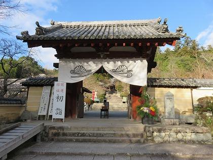 観心寺の門松 (3)