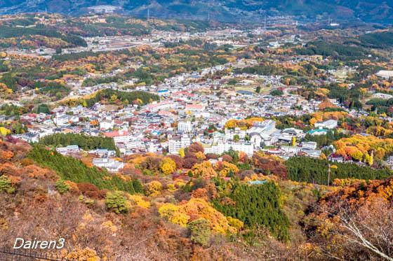 上ノ山公園から見る伊香保温泉街